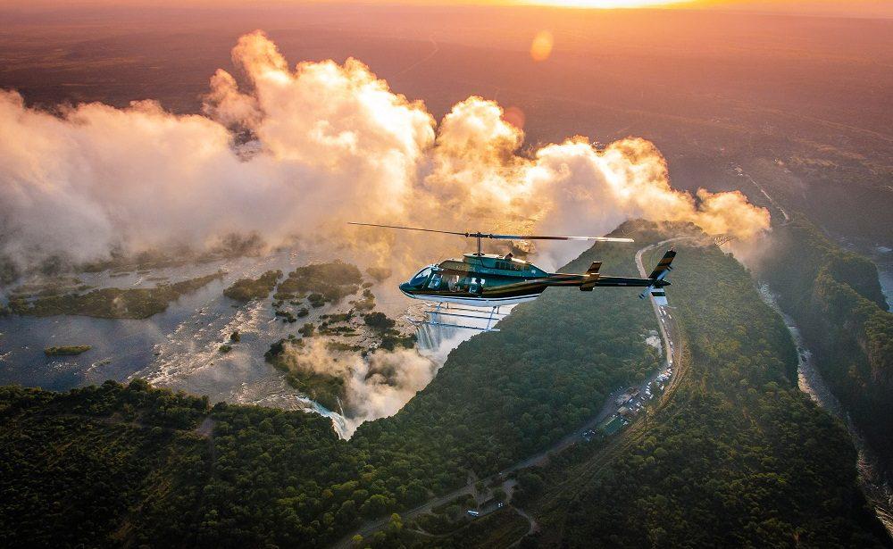 Helikopterflug über die Victoria Falls
