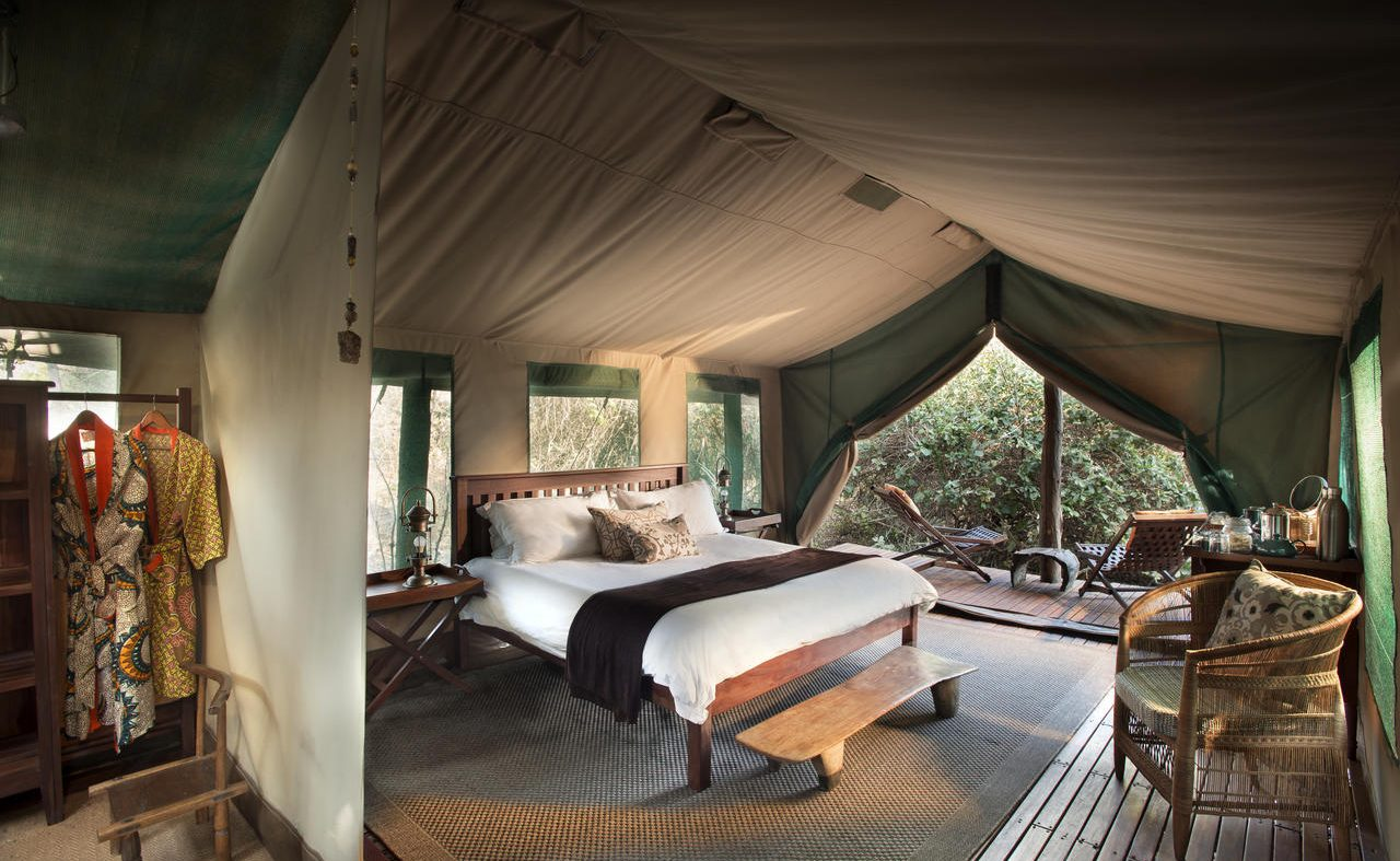 Zelt im Kanga Camp Mana Pools