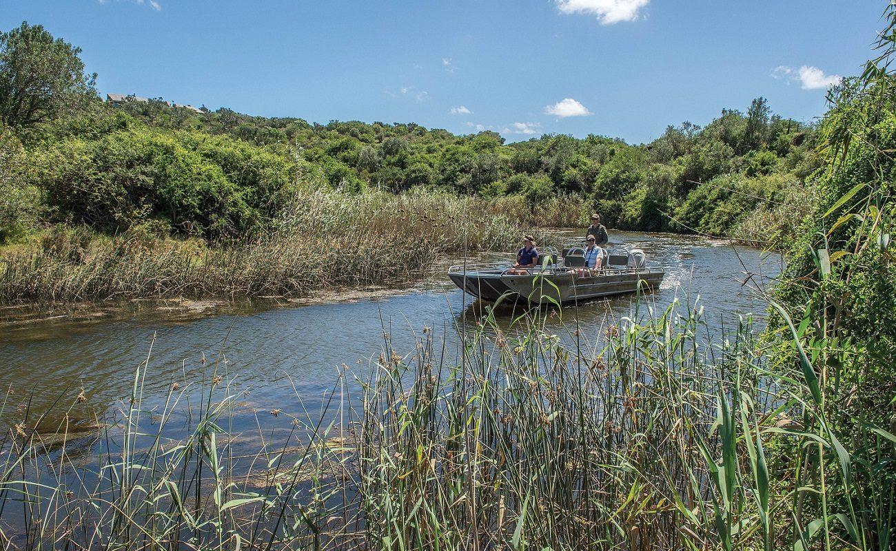 Fahrt mit dem Boot nach Settler's Drift
