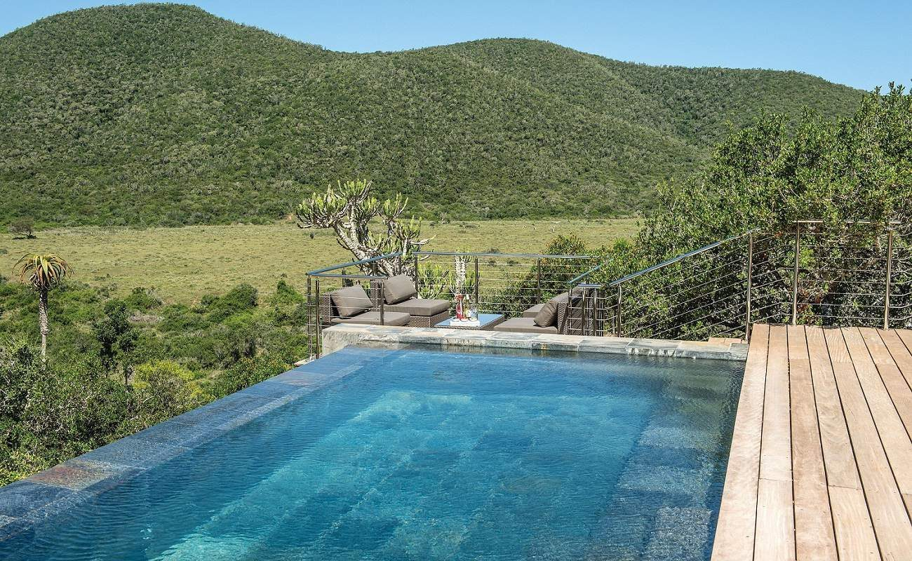 Infinity Pool im Kariega Game Reserve