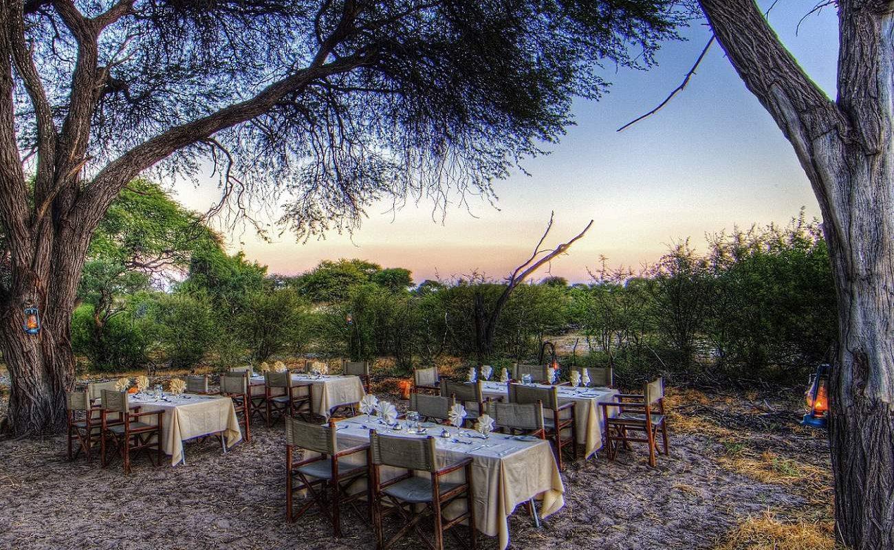 Erleben Sie ein Bushdinner bei Ihrer Botswana Safari mit Genuss Touren