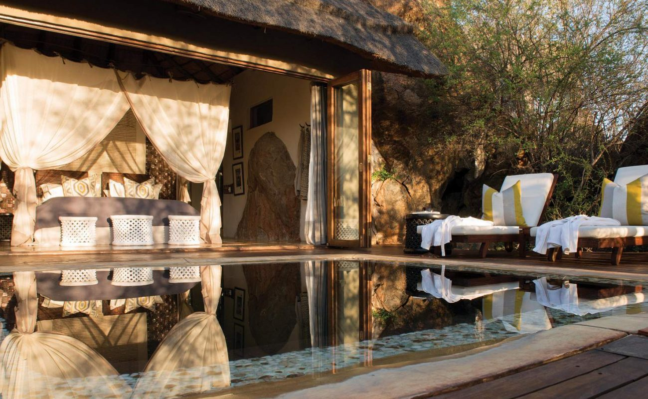 Honeymoon Suite mit Pool in Madikwe Hills