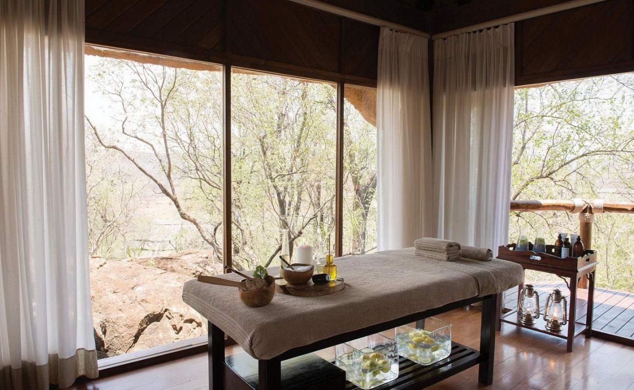 Spa der kleinen Luxuslodge in Südafrika