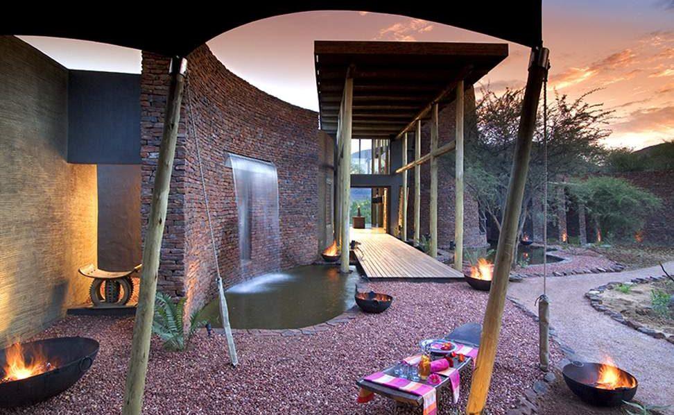 Eingang zur Luxuslodge in Südafrika
