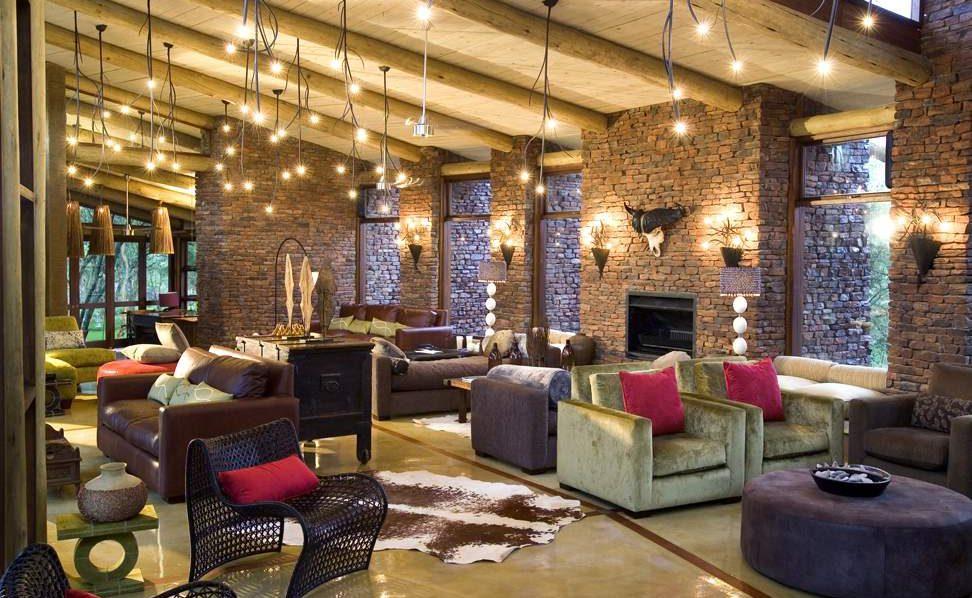Lounge von Marataba während einer Luxussafari mit Genuss Touren in Südafrika