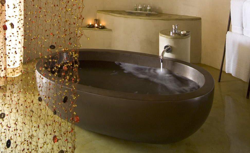 Badezimmer eines Zeltsuite in Marataba