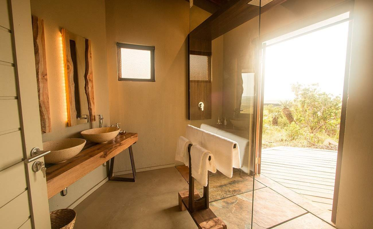 Badezimmer der Bush Suite in Rhino Ridge