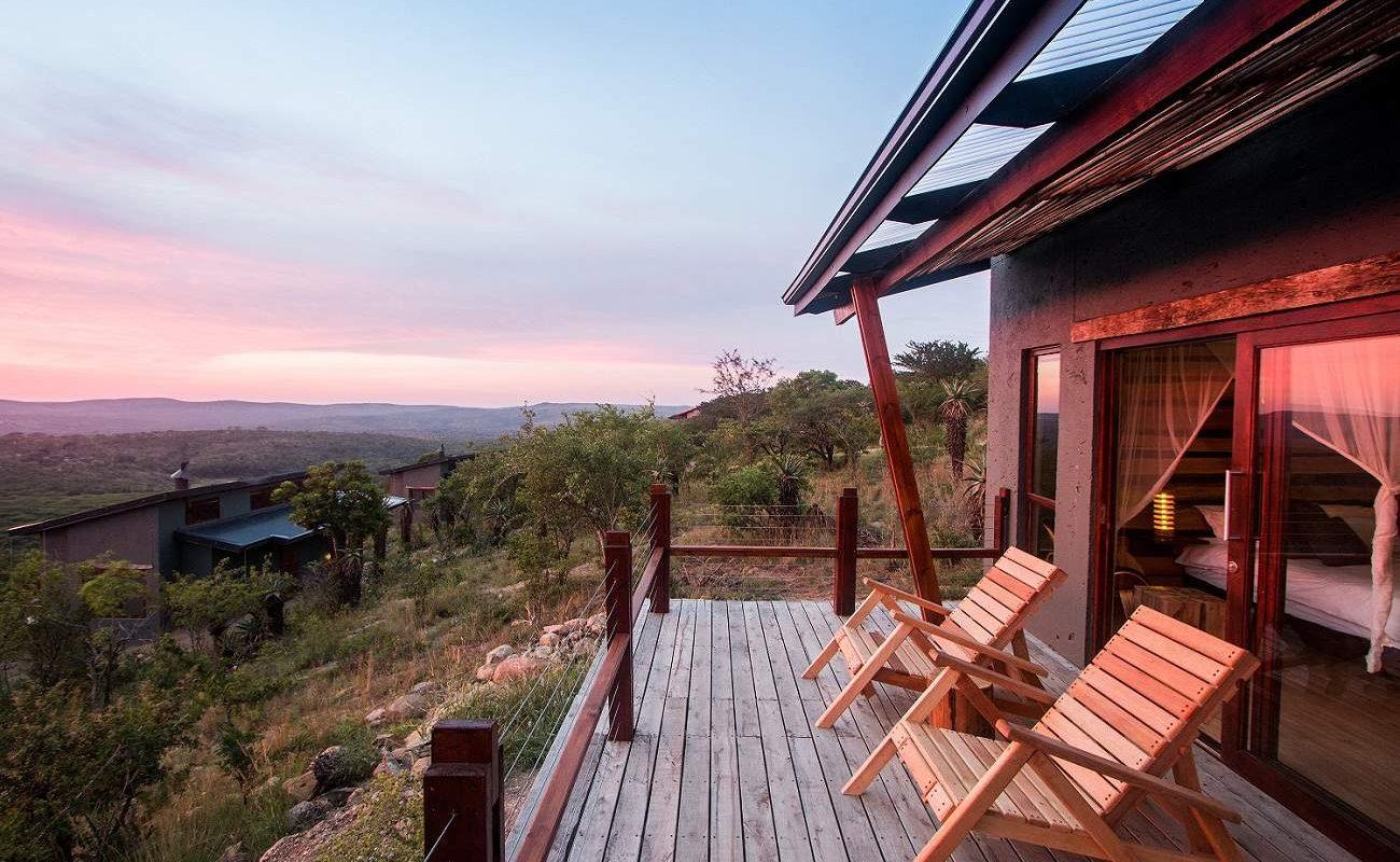 Veranda der Bush Villa der Isibindi Lodge