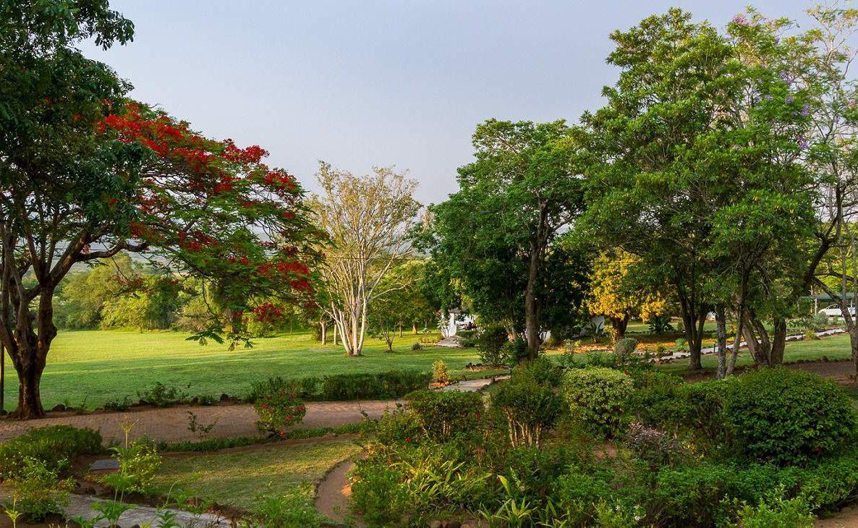 Garten der kleinen Lodge bei Hazyview