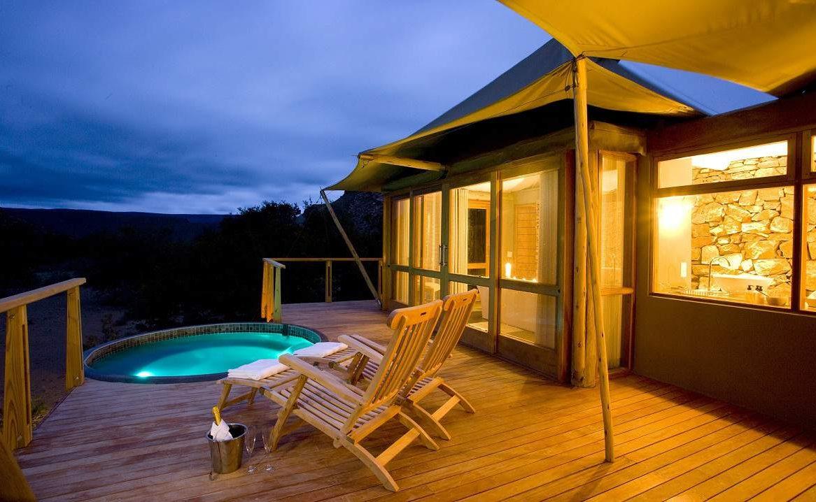 Die Luxussuite mit kleinen Pool