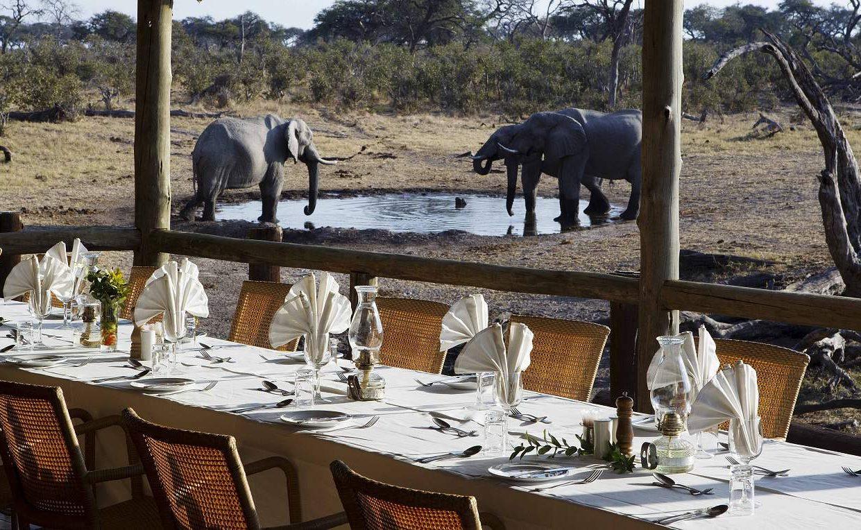 Dinner in der Savute Safari Lodge