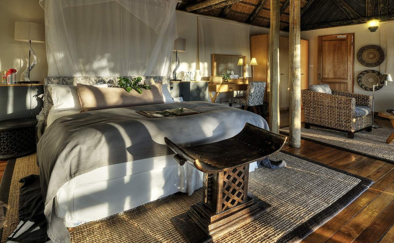 Im Chalet der Savute Safari Lodge