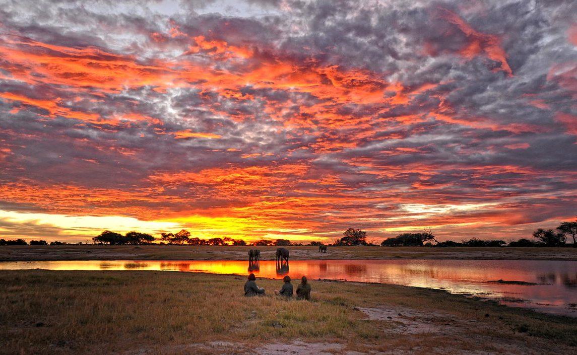 Sonnenuntergang im Hwange Nationalpark