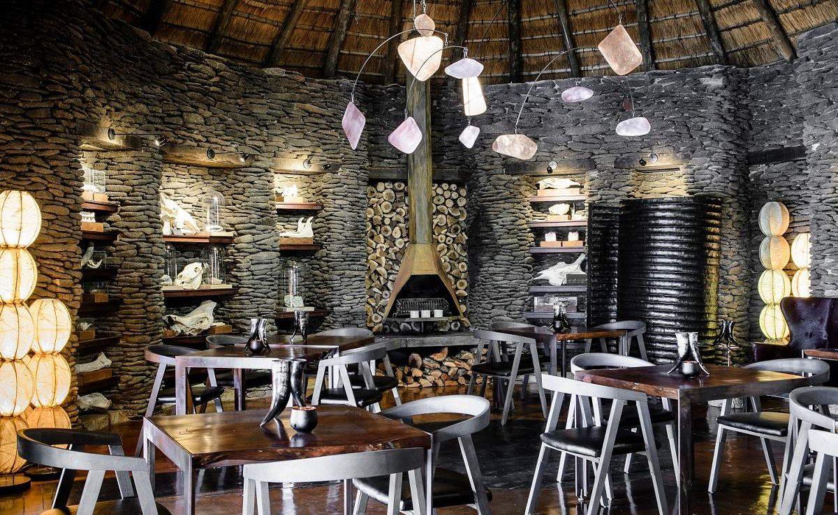 Speisezimmer der Luxuslodge