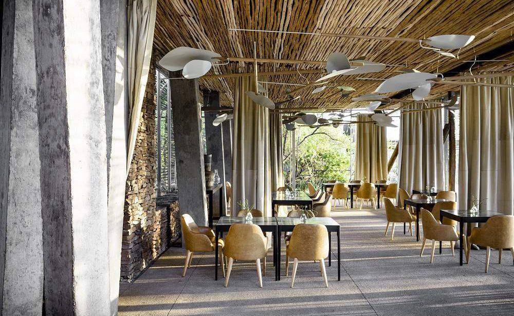 Restaurant von Singita Lebombo
