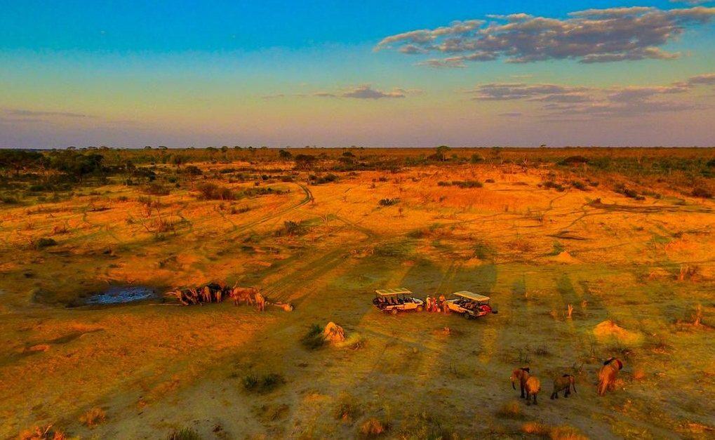 Abendstimmung im Hwange Nationalpark
