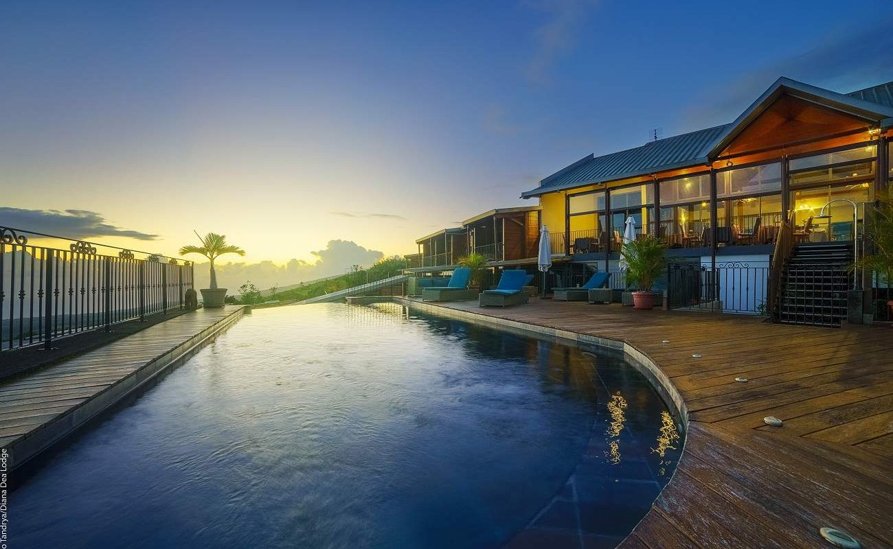Pool von Diana Dea in der Abendsonne