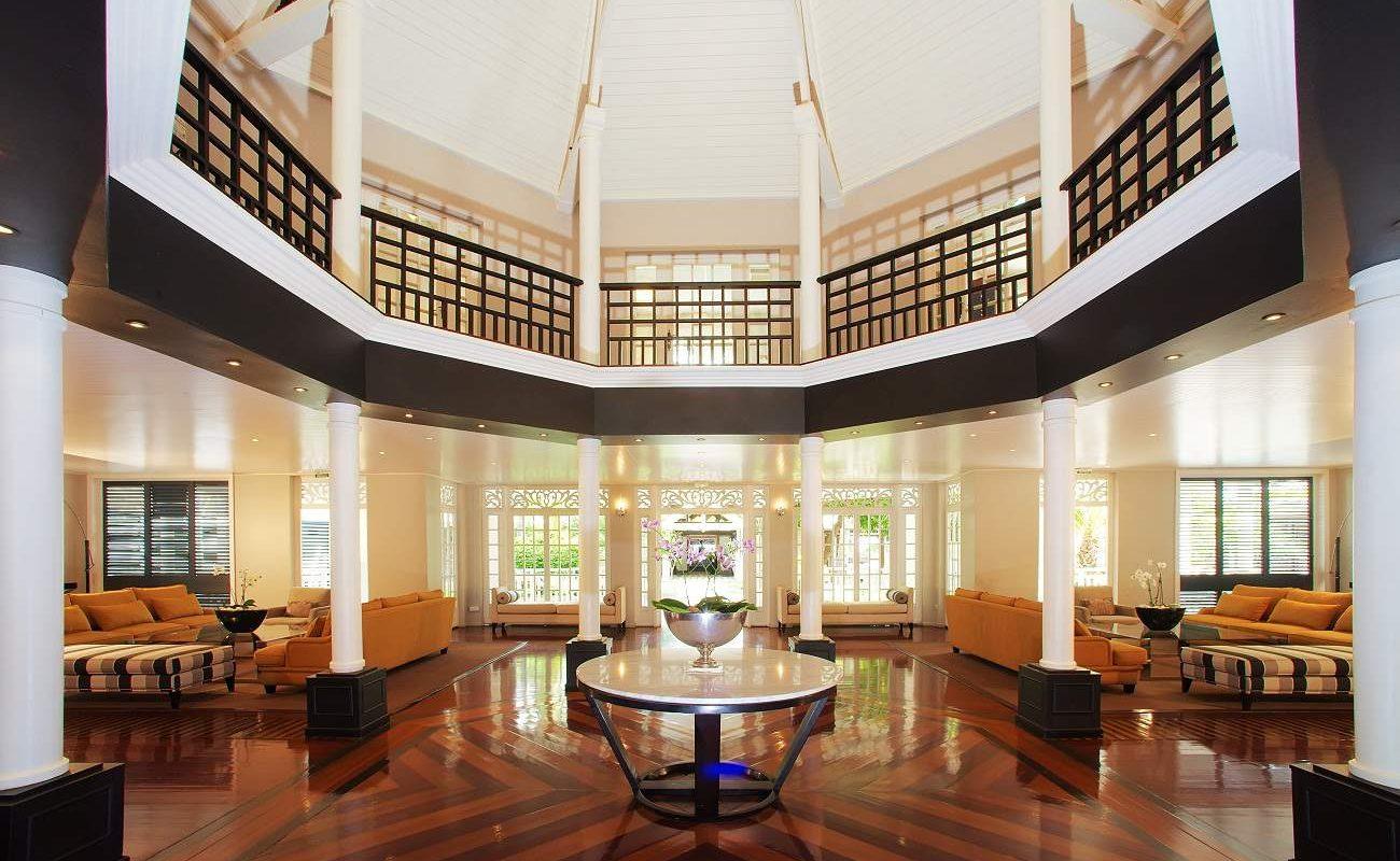 Lobby des Luxushotels auf La Réunion