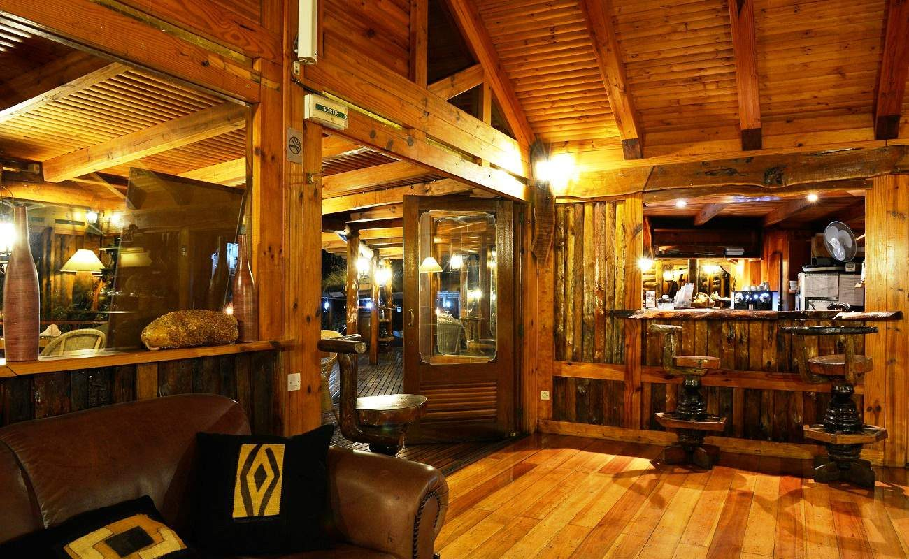 Bar des kleinen Boutiquehotels auf La Réunion