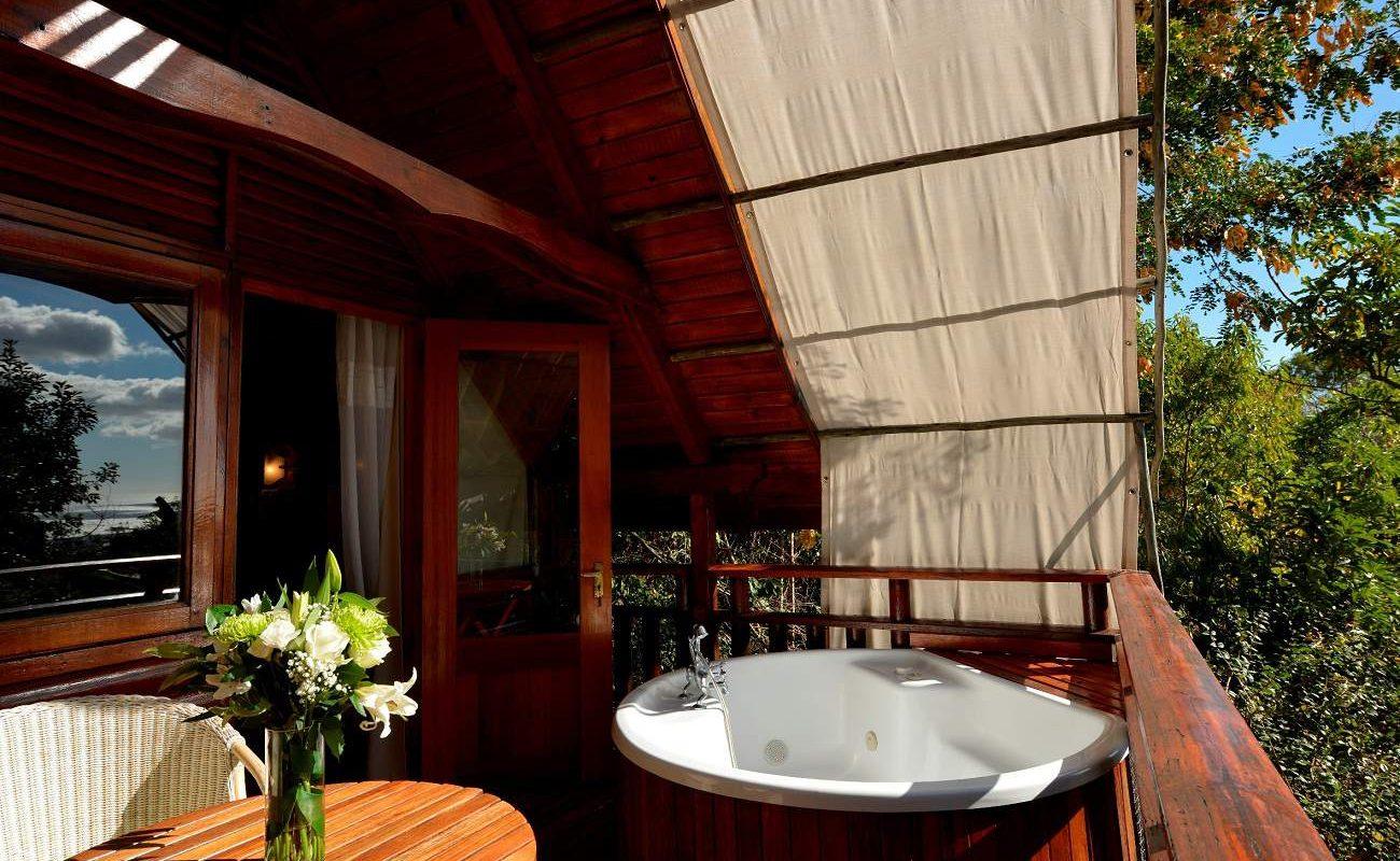 Terrasse einer Prestige Lodge