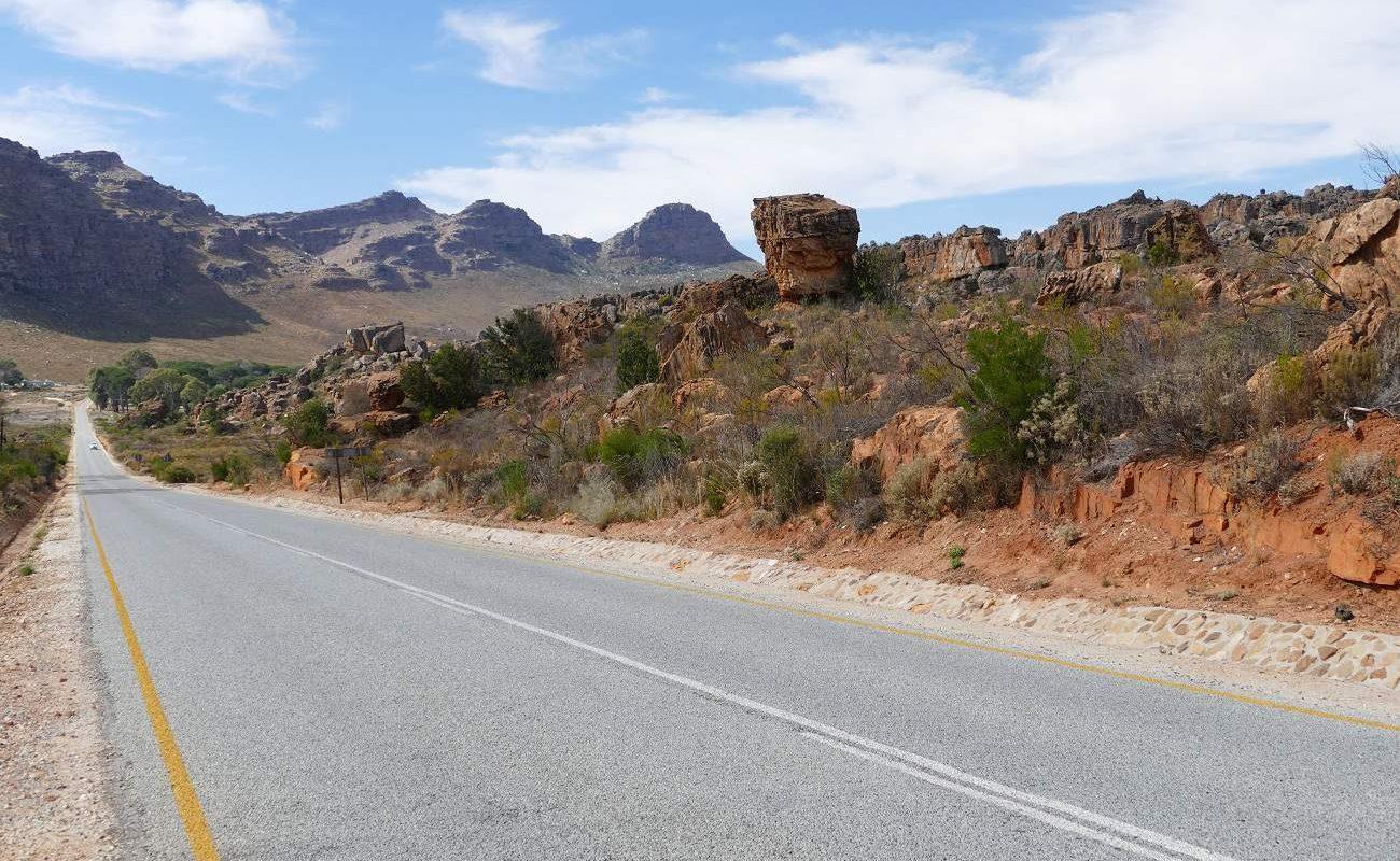 Straße in den Cedebergen