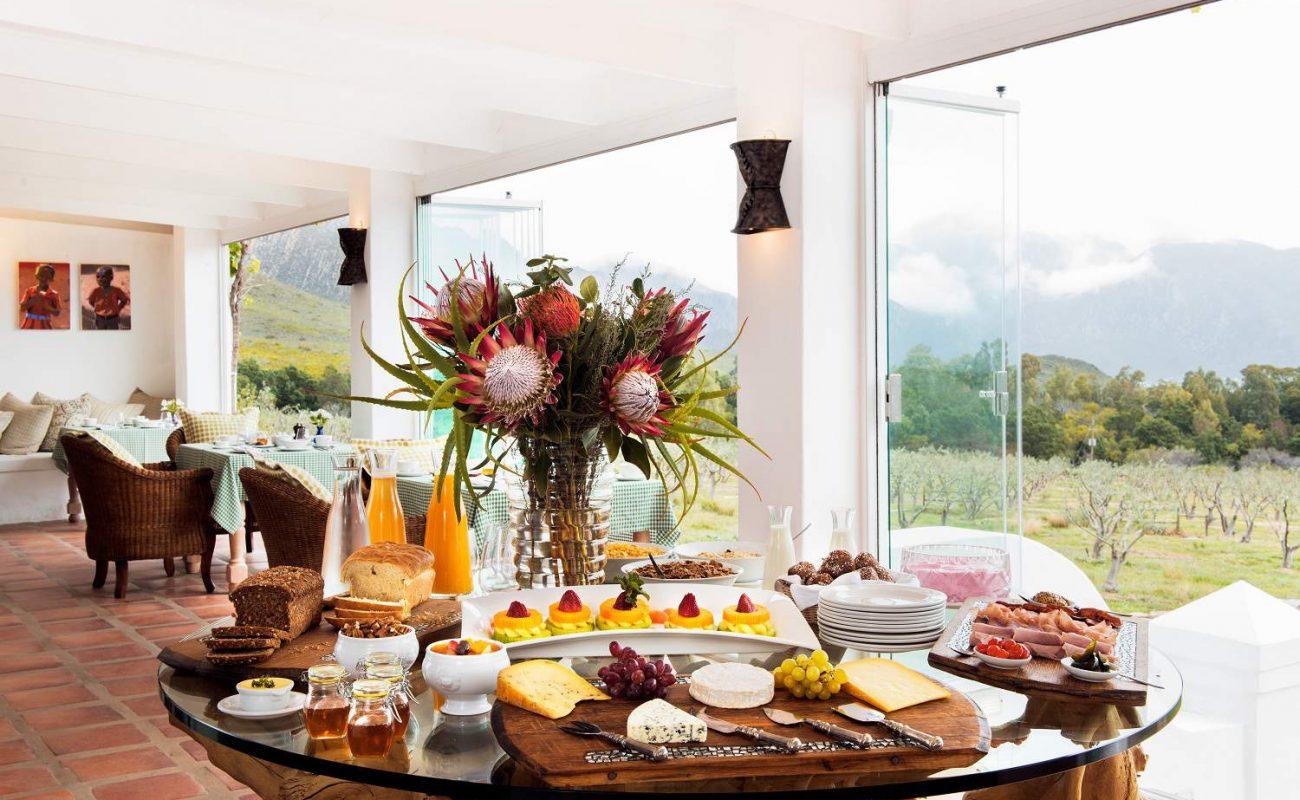 Frühstück im Galenia Estate