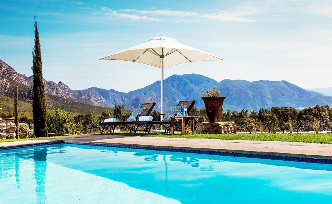 Am Pool des Boutiquehotels in der Kleinen Karoo