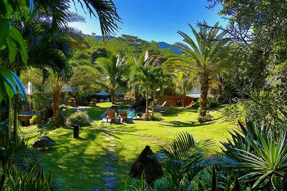 Tropischer Garten des Lakaz Chamarel