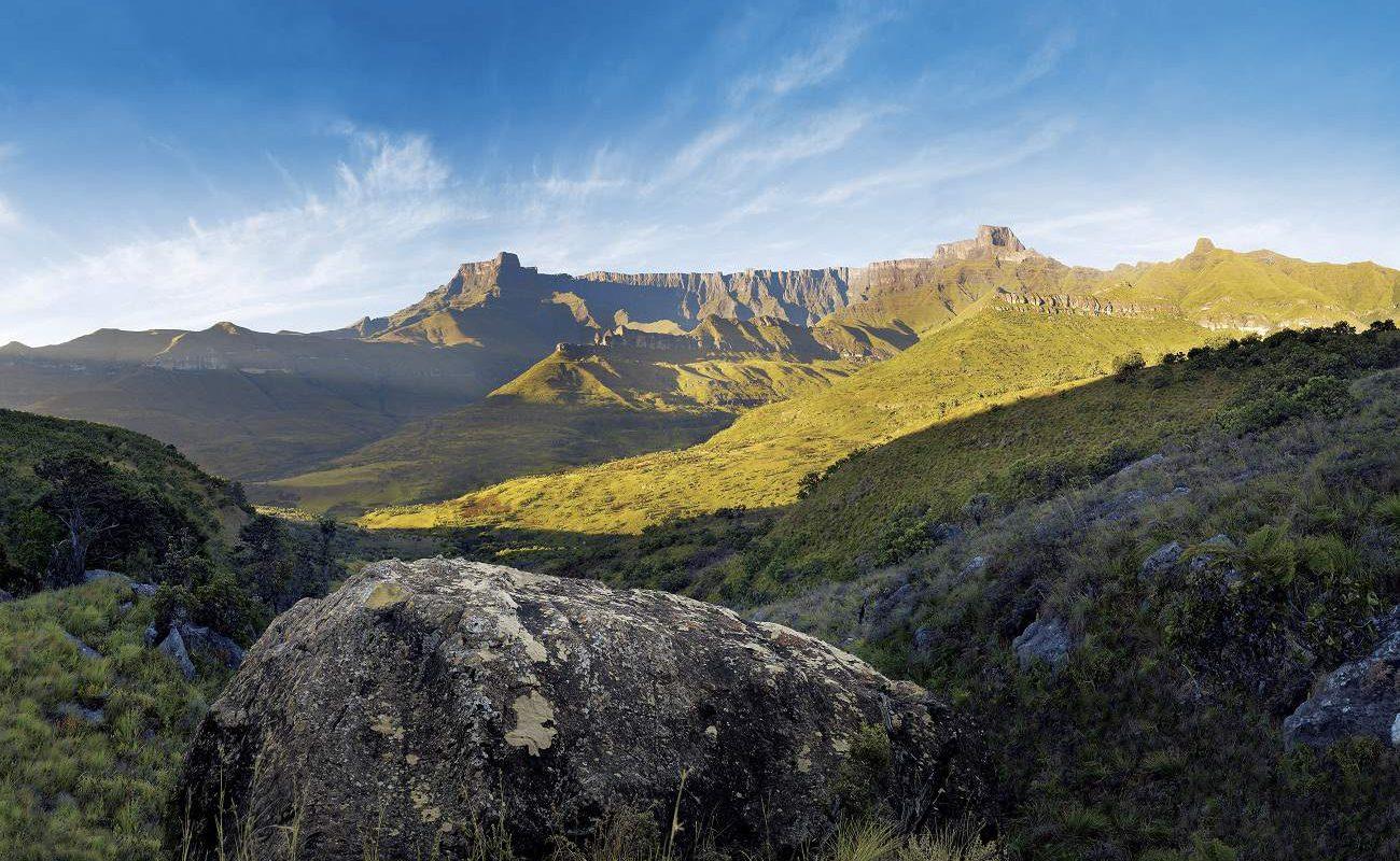 Amphitheater in den Drakensbergen von KwaZulu Natal