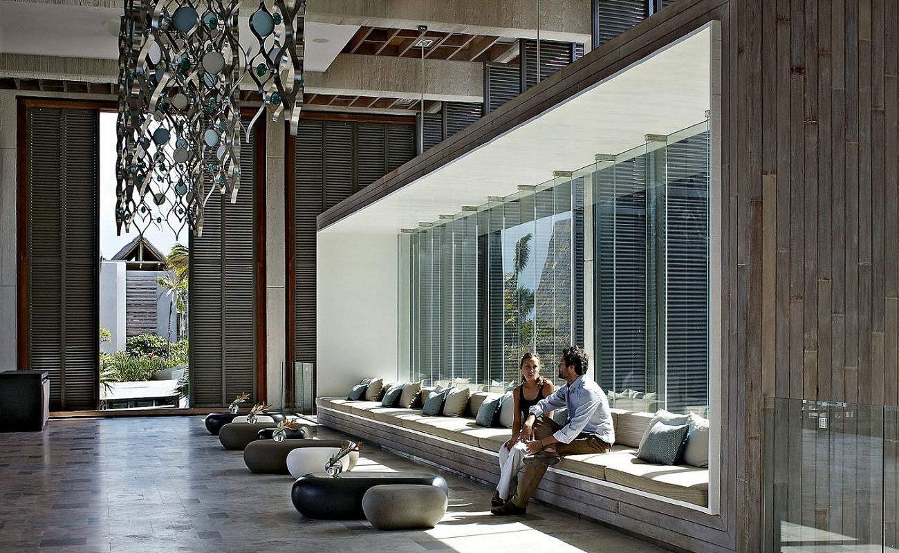 Lobby des Designhotels auf Mauritius
