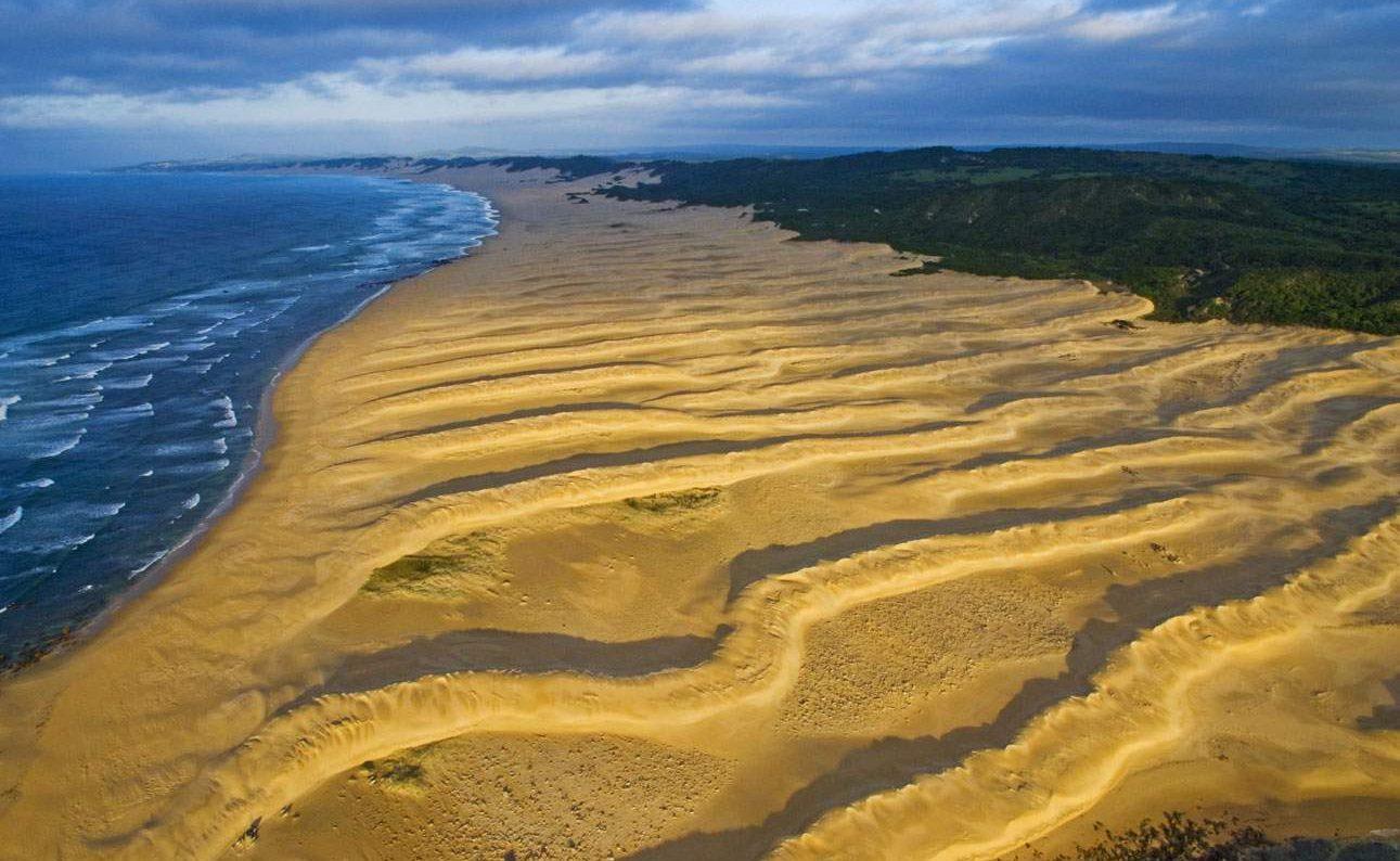 Der unberührte Strand von Oceana in der Provinz Eastern Cape