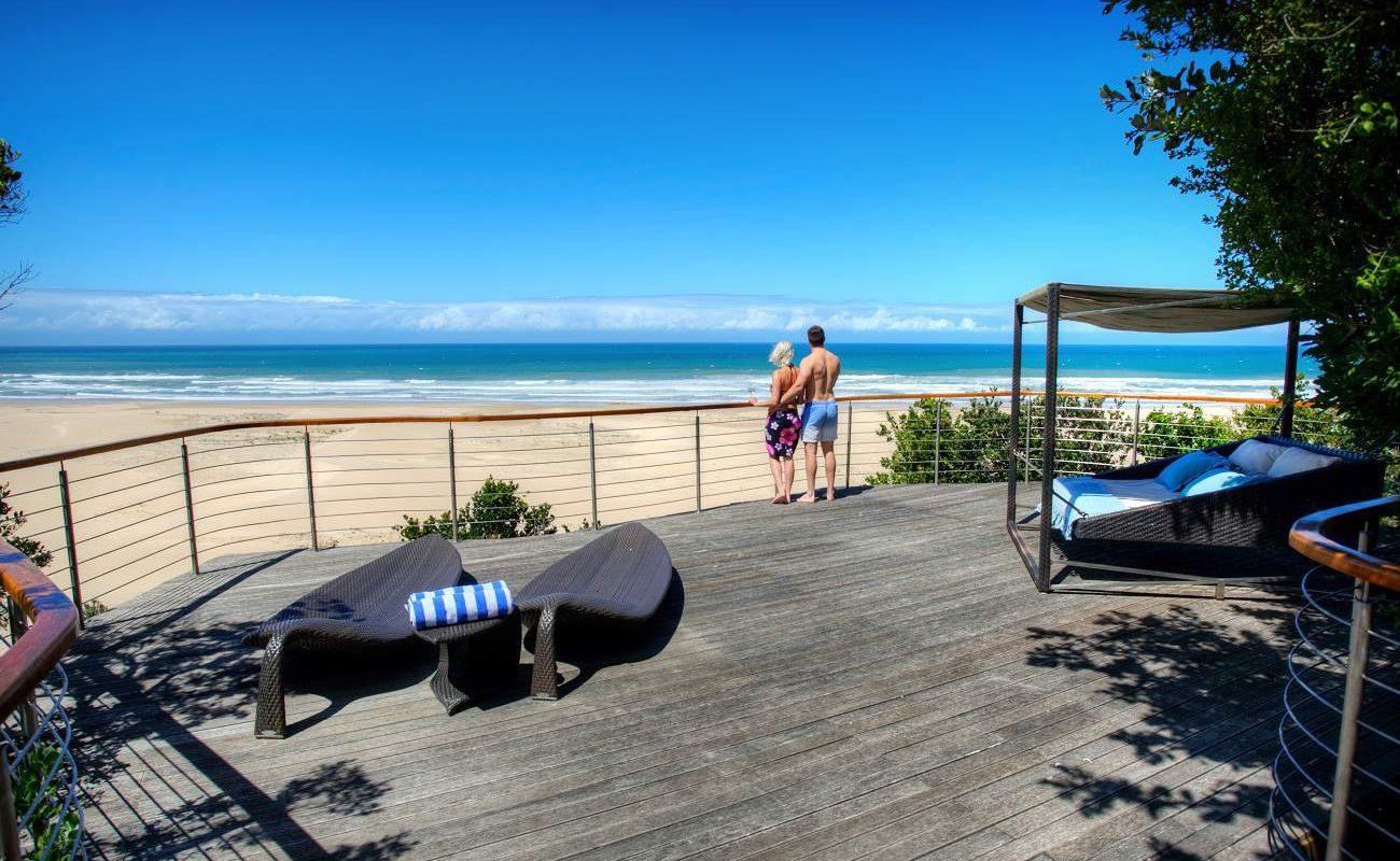 Ausblick vom Beach Deck von Oceana
