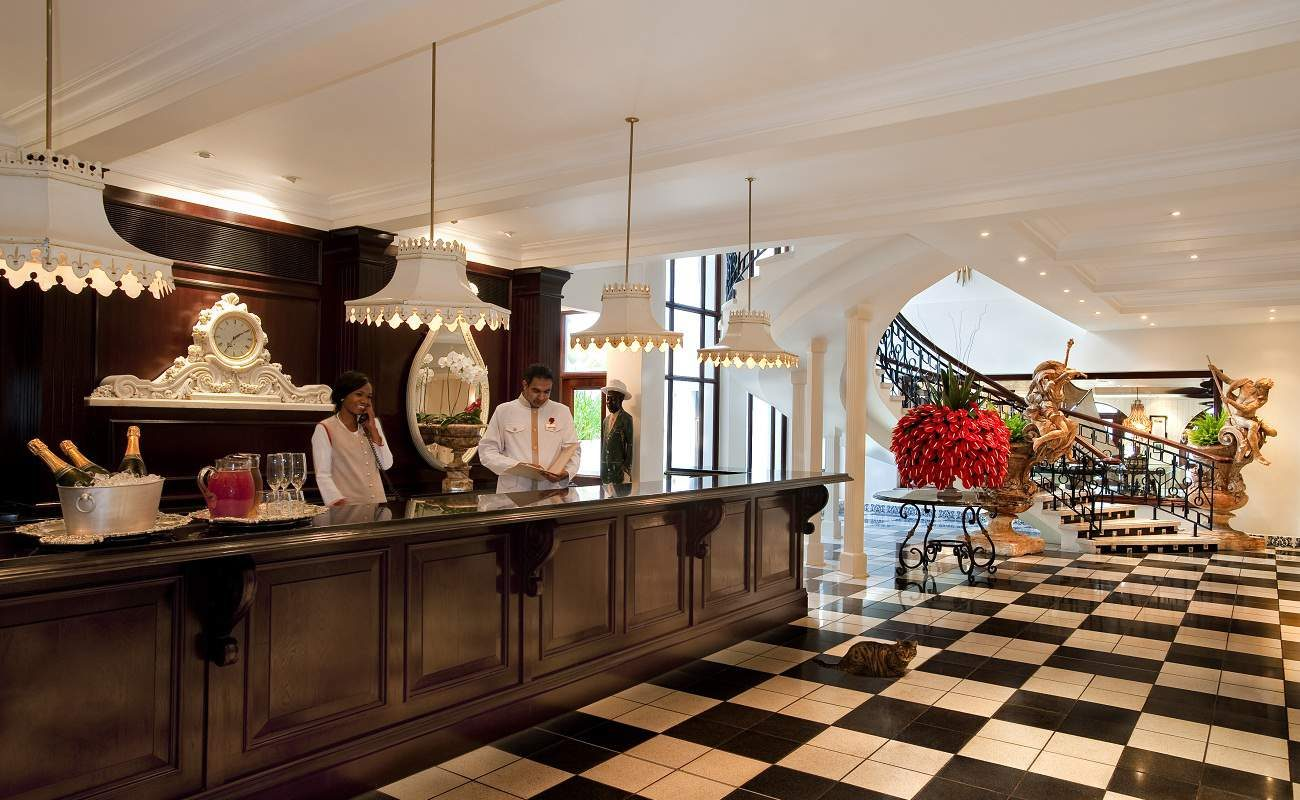 Lobby des Luxushotels Oyster Box
