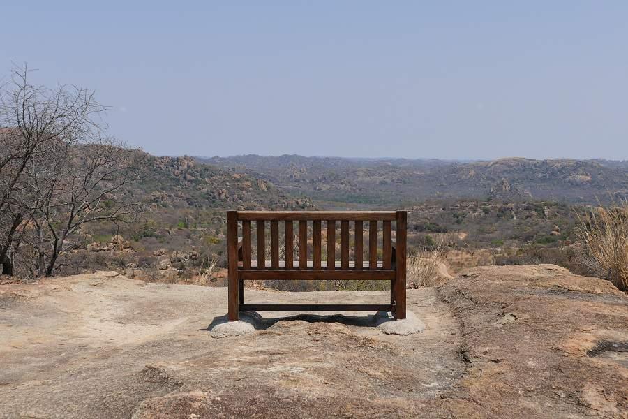 Bank im Matobo Nationalpark