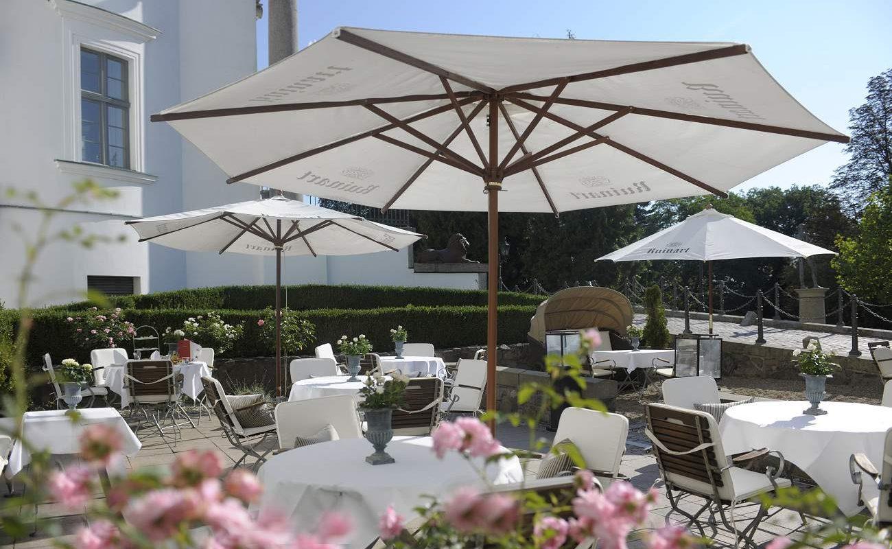 Terrasse der Brasserie Louise