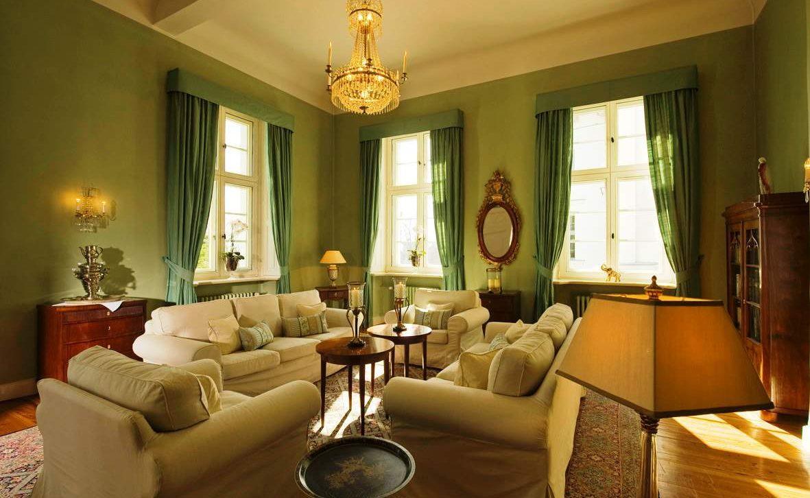 Grüner Salon im Schlosshotel Burg Schlitz
