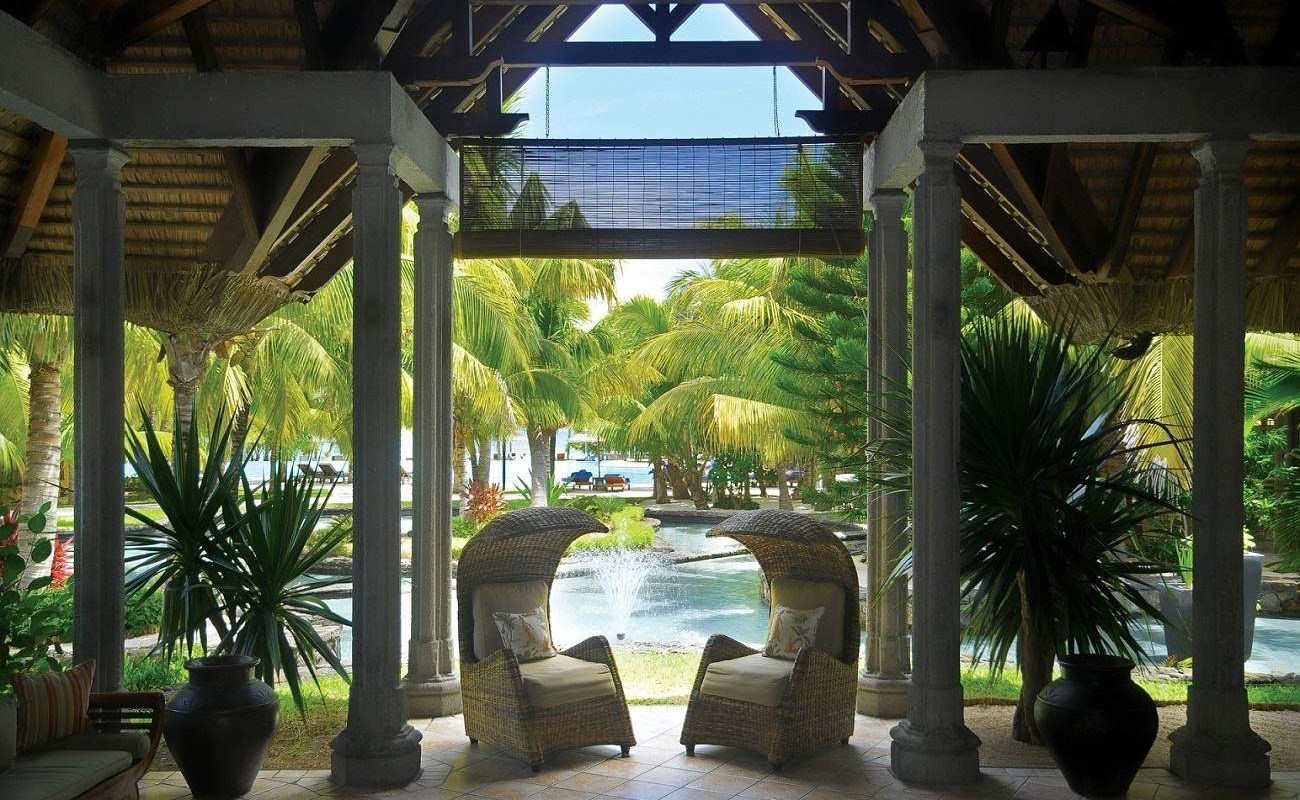 Lobby des Luxushotels vom Beachcomber