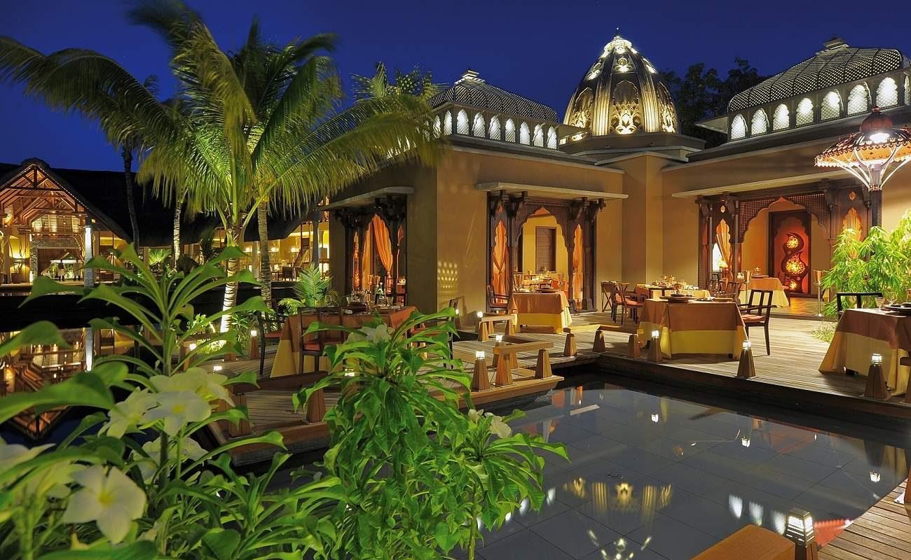 Das indische Restaurant des Luxushotels