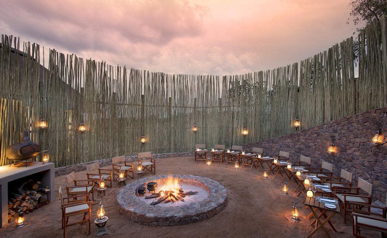 Boma der Mhondoro Game Lodge
