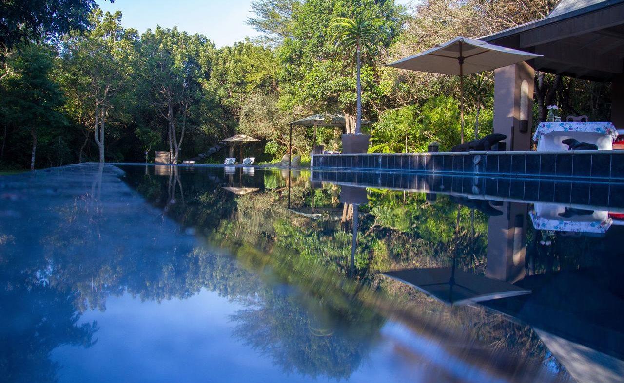 Pool der Prana Lodge an der Wild Coast