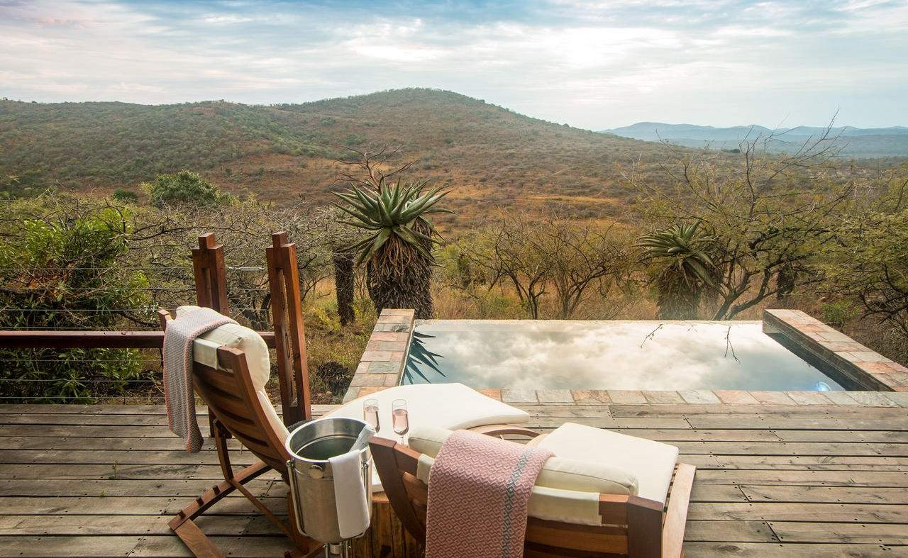 Plungepol der Honeymoon Suite in Rhino Ridge