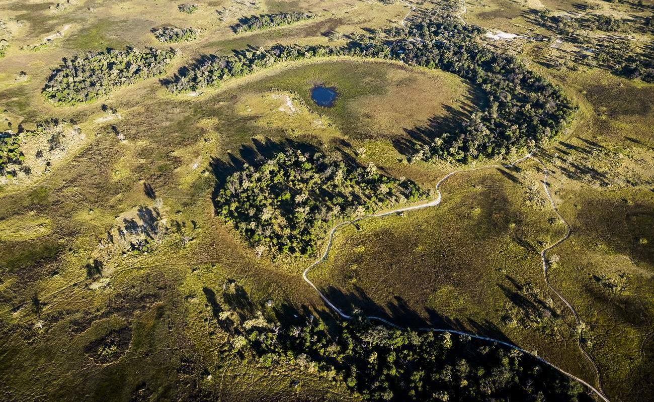 Gesamtansicht von Sancatuary Stanley's im Moremi Gebiet