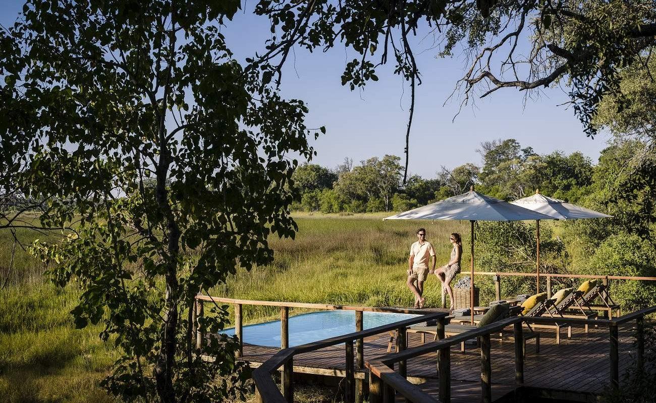 Der kleine Pool des Stanley's Camp in Botswana