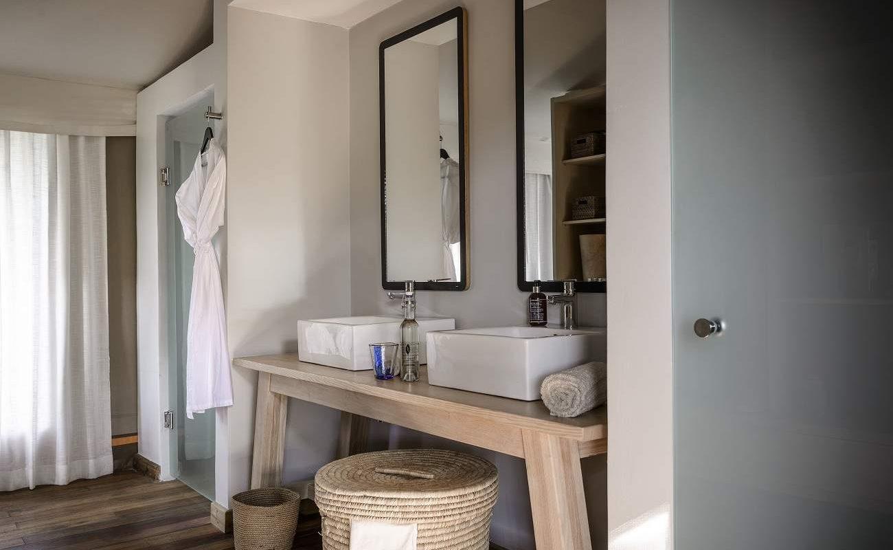 Badezimmer eines Luxuszelts im Stanley's Camp