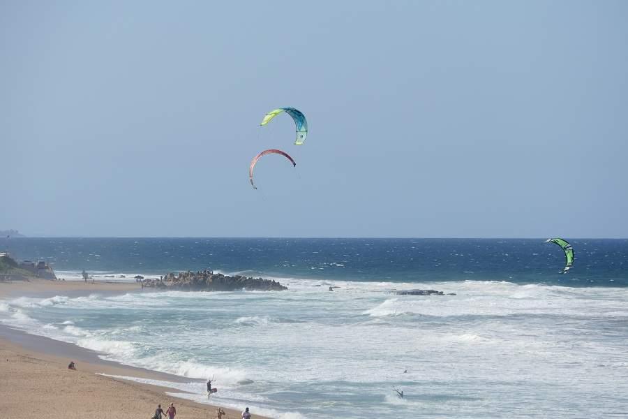 Kitesurfer in Umdloti