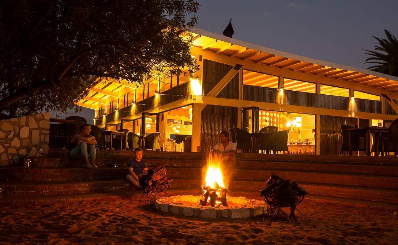Feuerstelle von Anib Kalahari