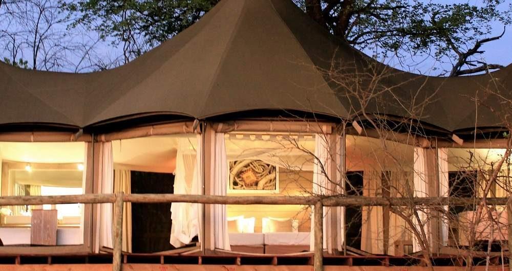 Nambwa Tented Lodge im Caprivi Streifen von Namibia
