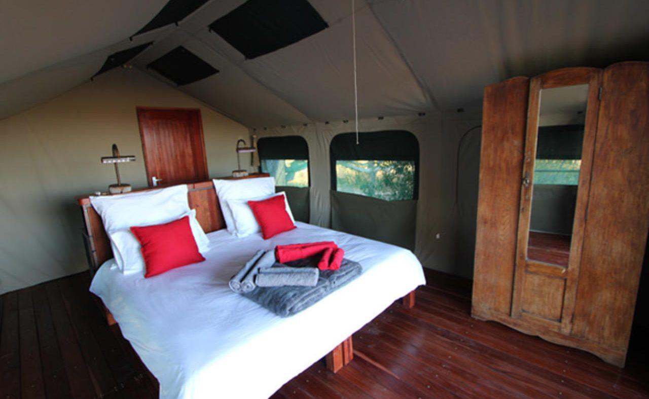 In einem der komfortablen Zelte