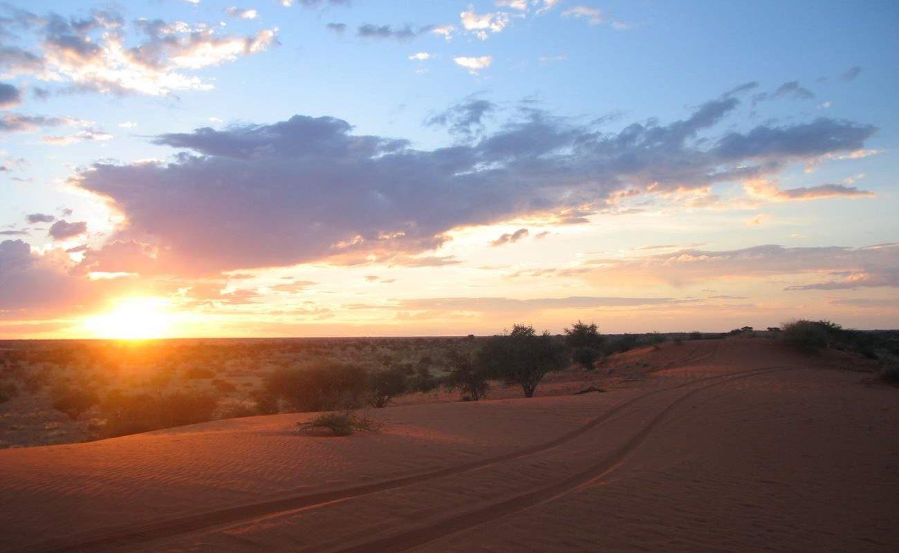 Sonnenuntergang Kalahari
