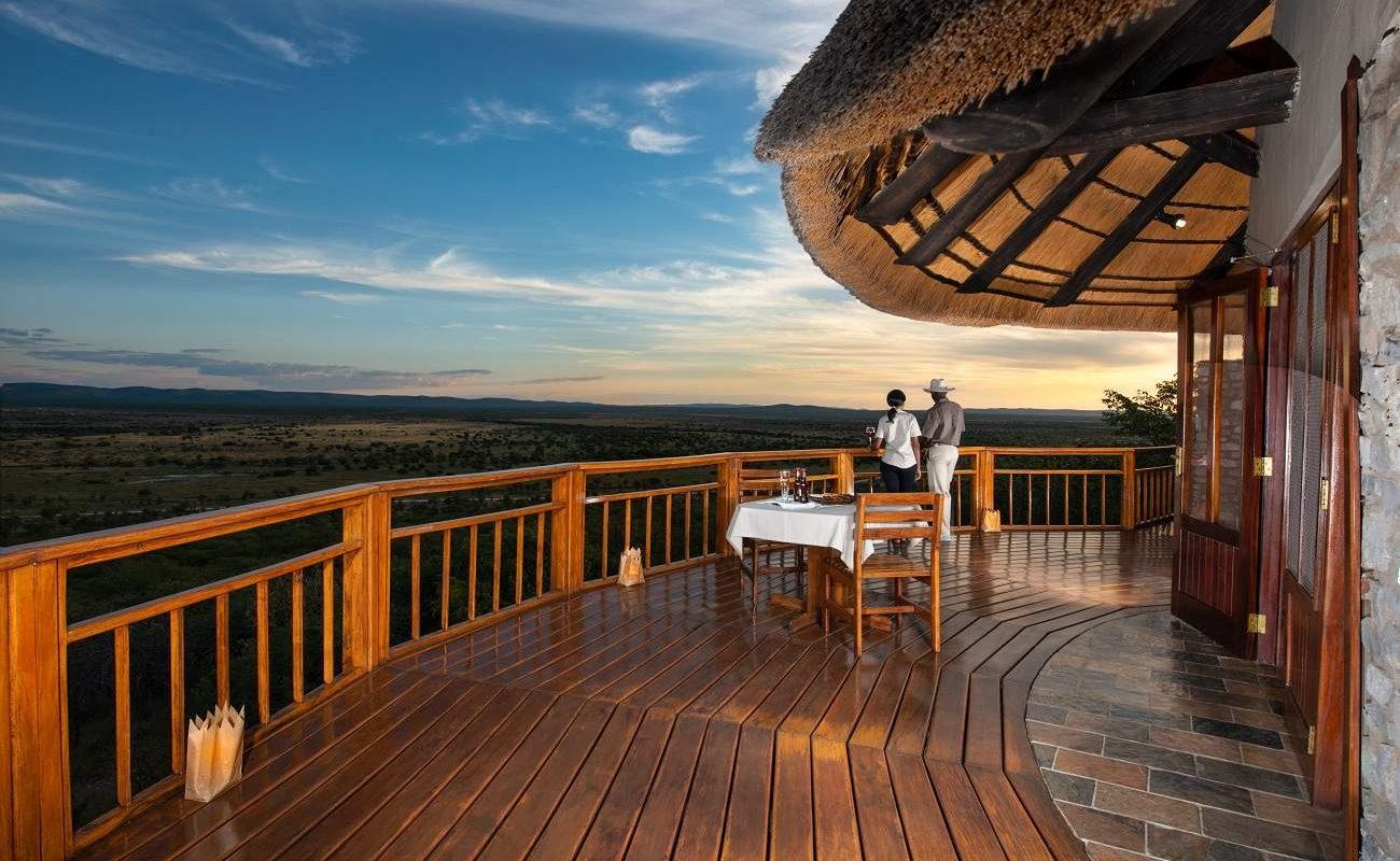 Dinner auf der Veranda von Safarihoek